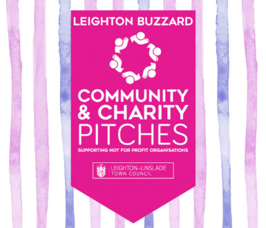 Charity Market Pitches Logo With Stripes